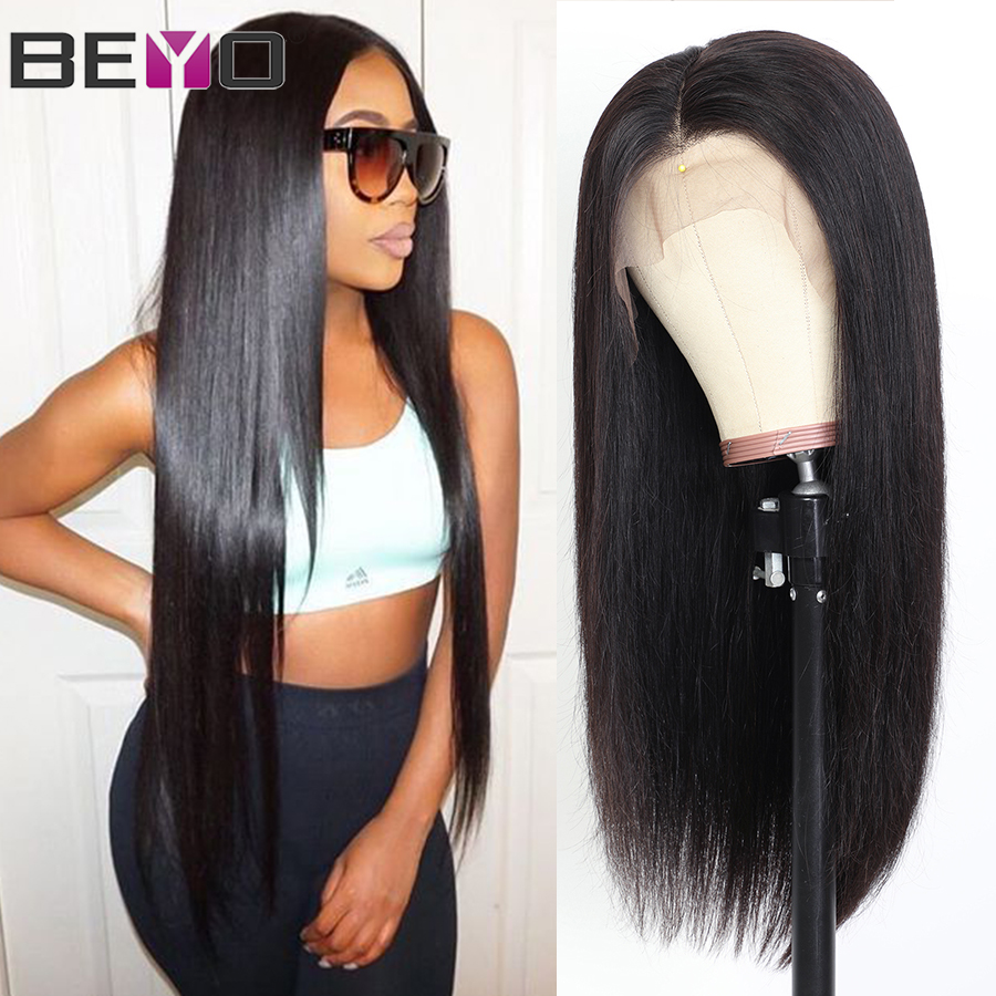 Straight Lace Front <font><b>Wig</b></font> 360 Lace Frontal <font><b>Wig</b></font> <font><b>250</b></font> <font><b>Density</b></font> Lace <font><b>Wig</b></font> Brazilian Lace Front <font><b>Human</b></font> <font><b>Hair</b></font> <font><b>Wigs</b></font> For Women Beyo Remy <font><b>Hair</b></font> image