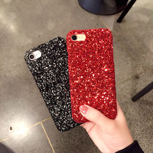 Luxury Bling Glitter Shining Flash Powder Sequins Phone Case For iPhone 7 6s 6 s 8 Plus PC Hard Cover Case For iPhone X 10 Capa flash powder lips pattern leather coated pc back case for iphone 6s 6 red