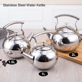 BORREY 2L Stainless Steel Teapot With Tea Infuser Filter Oolong Kettle Metal Tea Coffee Pot Induction Cooker Gas Stove Kettle 5