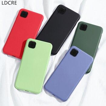 Перейти на Алиэкспресс и купить Чехол для Huawei Y5p, чехол для Huawei Honor 9S, защитный мягкий чехол из жидкого силикона, чехол для Huawei Y5p 2020 Honor 9S