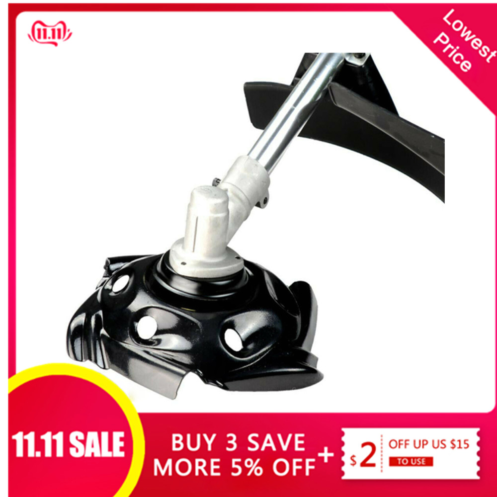 Carbon Steel Grass Trimmer Head Mowing Lawnmower Head Parts Accessoires Grass Tray Brushcutter Cutter Outdoor Garden Supplies