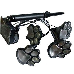4 Солнечный собаки в форме лапки животного огни Статуэтка для сада Фонари LED-лампа для дорожек лампа черного цвета