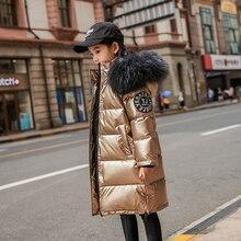 30 gradi di inverno giù giacca vestiti delle ragazze 2020 capretti Dei Vestiti Dei Bambini dei ragazzi della tuta sportiva cappotti parka vera pelliccia impermeabile snowsuit