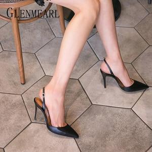 Women Sandals Back Trip Shoes Summer Fashion High Heels Point Toe Comfortable Shoes Women For Sandals 2020 New Arrivals DE(China)