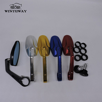 WINTUWAY 5 Colors Available Universal Motorcycle Rearview Mirror Moto CNC Side Mirrors Motorcycle Accessories Parts B SH5503
