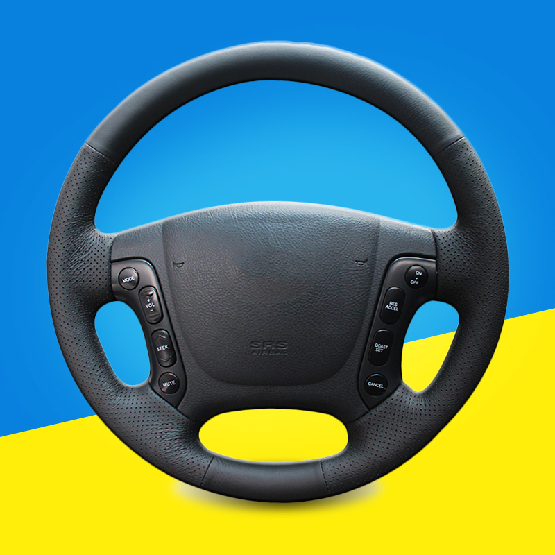 Auto Steering <font><b>Wheel</b></font> <font><b>Cover</b></font> for Hyundai Santa Fe 2007 2008 2009 2010 2011 2012 <font><b>Car</b></font> Braid On The Steering <font><b>Wheel</b></font> <font><b>Covers</b></font> <font><b>Car</b></font>-styling image