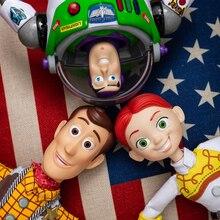 Крутая История игрушек 3 2 Woody Buzz Lightyear Be Poop Jessie говорящая фигурка кукла История Игрушек 4 Rex Buzz Lightyear подвижный Рождественский подарок