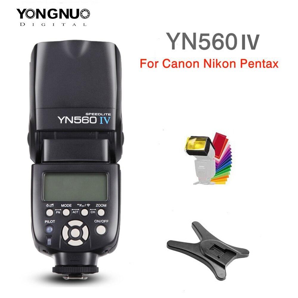 Yongnuo YN560 IV YN560IV 2.4G bezprzewodowy Master & grupy lampy błyskowej Speedlite do aparatu Nikon Canon Pentax Olympus Pentax DSLR + prezent w Lampy błyskowe od Elektronika użytkowa na AliExpress - 11.11_Double 11Singles' Day 1