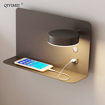Bedroom LED Wall Lamp with USB Charging Interface Indoor Wall Lamps Night Lamps