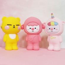 Korean Cartoon Bear Silica Gel Makeup Bags Soft Women Cosmet
