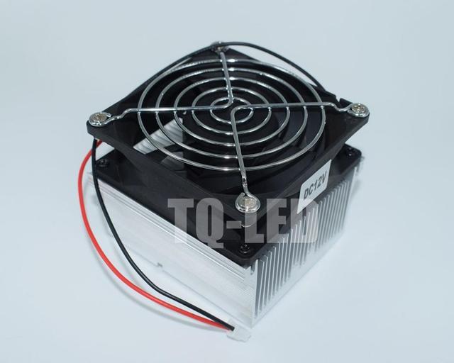 12V Aluminum Heatsink with Fan 20W 30W 50W 60W 100W High Power Led Radiator Screws together as Gift