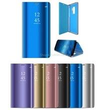 Гальванизированный зеркальный смарт-чехол для Samsung Galaxy S9 S 9, кожаный флип-чехол для Samsung S9 Plus S9Plus s9 + G965F/DS
