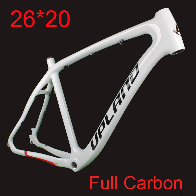 2019 New Carbon 26*20 MTB <font><b>Bicycle</b></font> <font><b>Frame</b></font> Full Carbon Mountain Bike <font><b>Frame</b></font> <font><b>Set</b></font> with <font><b>Frame</b></font> Hook for Disc Brake image