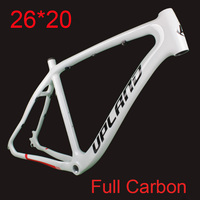 2019 New Carbon 26*20 MTB Bicycle Frame Full Carbon Mountain Bike Frame Set with Frame Hook for Disc Brake