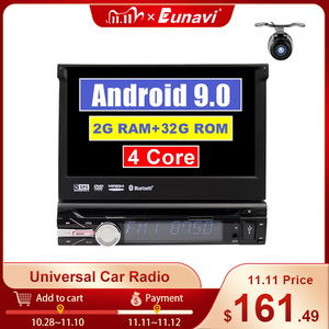 Image 1 - Eunavi Universal One 1 din Android 9 car multimedia player dvd radio audio auto gps navigation 1din headunit bluetooth wifi usb