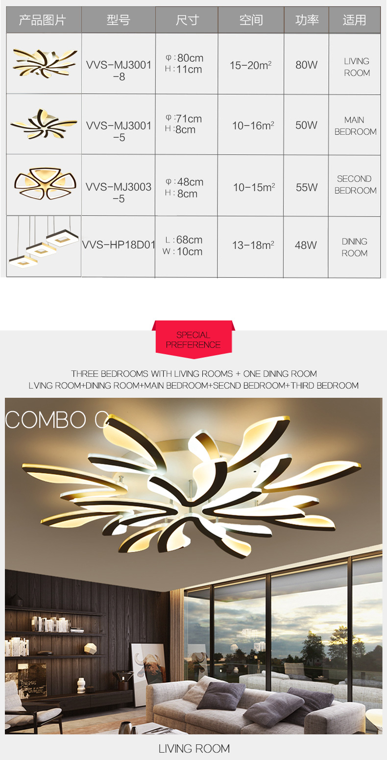 H0ea987889cf5498caedcfc628a7f04dbO LED Ceiling Lights Dandelion Indoor Ceiling Lamp Modern Simple Post-Modern Living Room Bedroom Dining Room Study Room