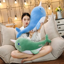 55cm/80cm Soft Creative Simulation Whale Plush Toy Cartoon Animal Fish Stuffed Doll Sofa Chair Pillow Cushion Children Gift 80cm simulation animal lifelike octopus plush toy throw pillow creative stuffed lucky fish ocean animal doll decoration gift