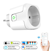 16A WiFi Smart Plug Outlet  Tuya Remote Control Home Appliances Works With Alexa Google Home No Power Monitor 2021
