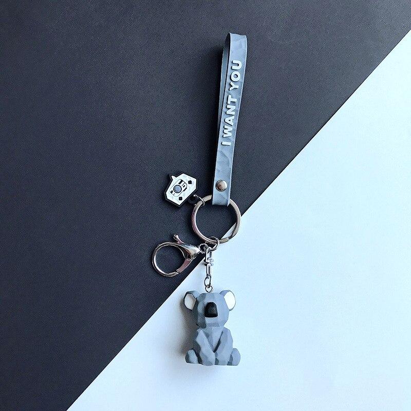 2019 New Fashion Cute Dinosaur Keychain Key Ring Fashion Cartoon PU Key Chain Creative Car Bag Phone Key Ring (23)