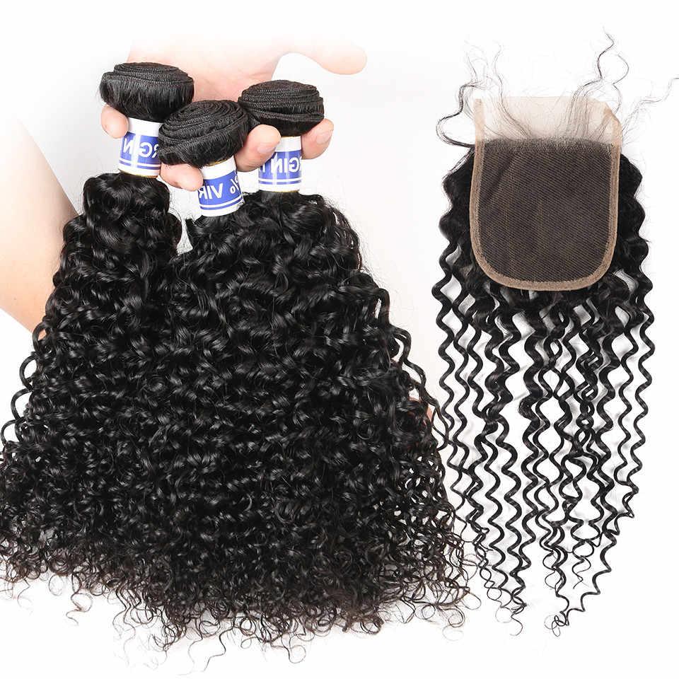 Mellow Hair Brazilian Jerry Curl Hair Bundle Non Remy Human Hair Extensions Nature Color Can Buy 3/4 Bundles Jerry Curly Bundles