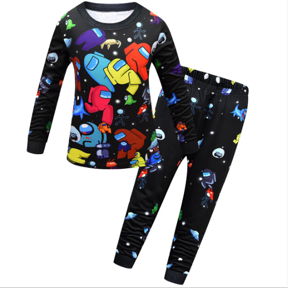 2021 New Game Among Us Spring Autumn Children Pajamas for Girls Teen Clothing Set Boys