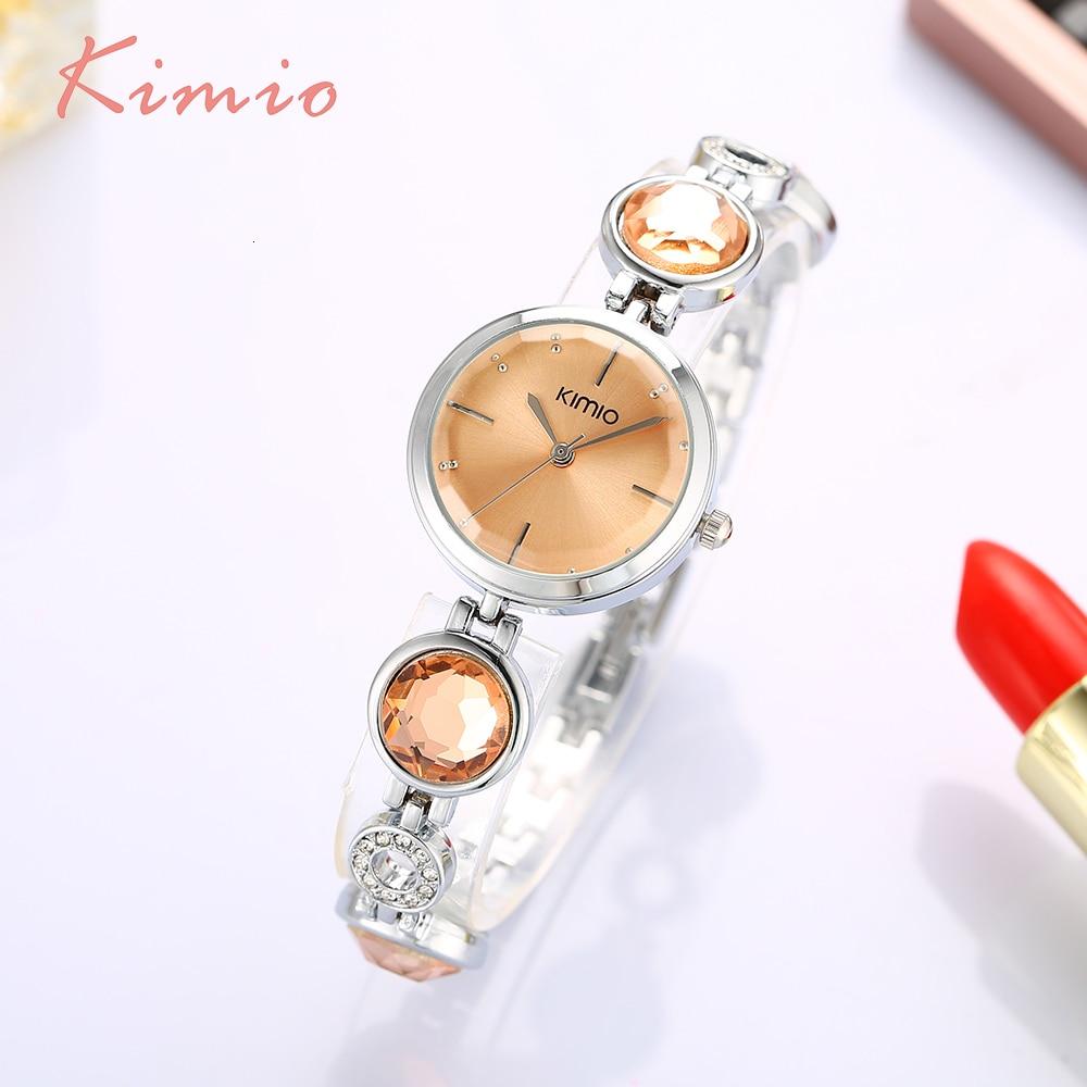 KIMIO Fanshion Quality Crystal Diamond Bracelet Quartz Watches Woman Watches 2019 Brand Luxury Ladies Wrist Watches For Women