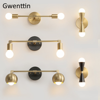 Nordic Gold Wall Lamp Led Mirror Light Fixtures Modern Wall Sconce for Living Room Bathroom Loft Industrial Decor Home Luminaire