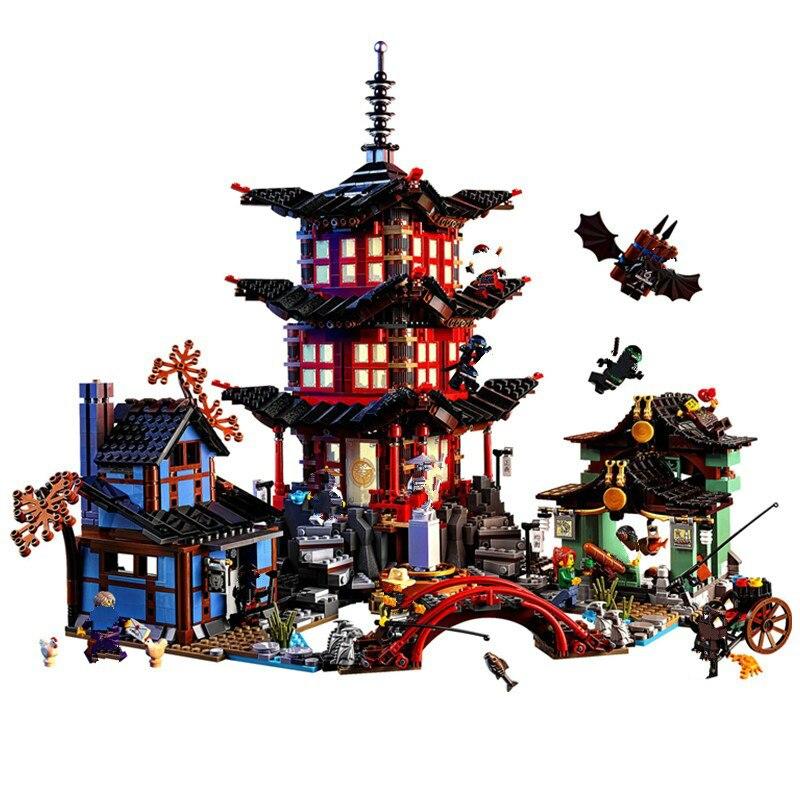 Ninjaes Temple 2150+pcs DIY Building Block Sets Educational Toys for Children Compatible Lepining Ninjagoes Air Combat
