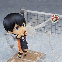 Haikyuu Kageyama Tobio #489 Action Figure Anzahl 10 Anime Nendoroid Figur Hinata Syouyou Niedlichen Spielzeug Für Kind Sport Modell puppe
