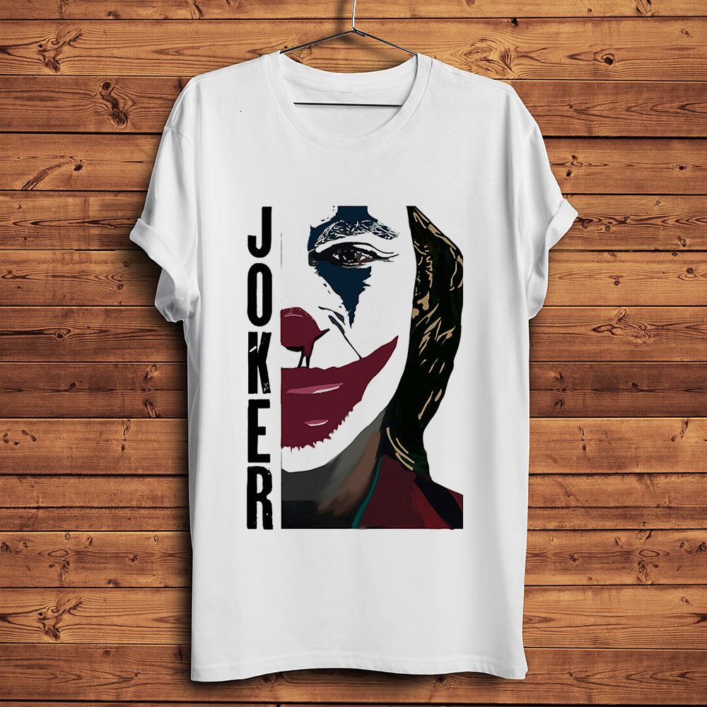 Joker 2019 Joaquin Phoenix Funny T-shirt Men Summer New White Casual Homme TShirt Unisex Streetwear T Shirt