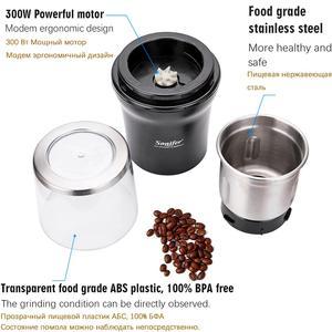 Image 5 - להסרה חשמלי קפה מטחנת יצרנית יבש ורטוב 2 ב 1 נירוסטה שעועית קל נקי טחנת עשבי תיבול אגוזי 220V Sonifer
