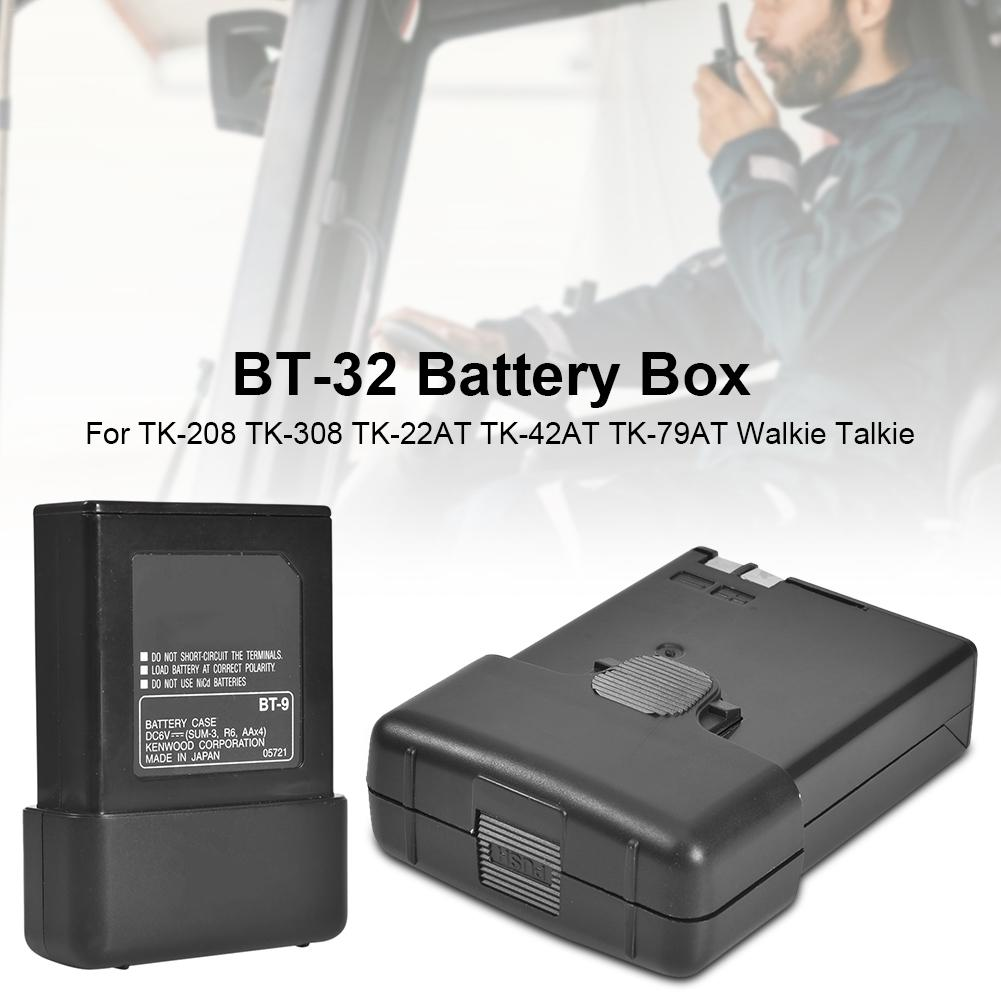 BT-32 Battery Box For Two Way Radios KENWOOD TK-208 TK-308 TK-22AT TK-42AT TK-79AT Walkie Talkie For OPPXUN 5 AA Battery Case