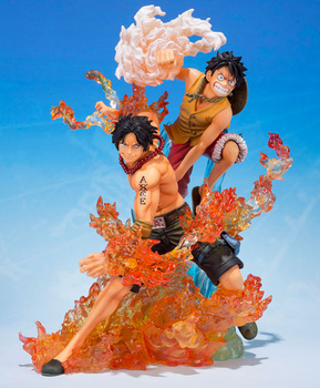 цена на 19 CM ONE PIECE Figure Tamashii Nations Figuarts ZERO Collection Figure - Monkey D. Luffy & Portgas D. Ace Brother's Bond
