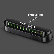 Estilo do carro Placa de Número de Telefone Do Cartão Cartão de Estacionamento Temporário Parque Parada para Audi A1 A2 A3 A4 A5 A6 A7 A8 C5 C6 Q2 Q3 Q5 Q7 R8