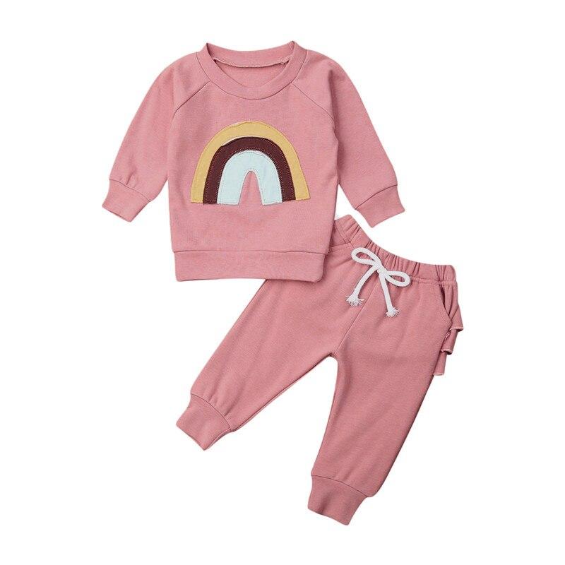 Felicy Newborn Baby Boy Girl Long Sleeve Cartoon Dinosaur Tops+Pants Cloth Outfits Sets Pajamas Set Baby Clothes Set