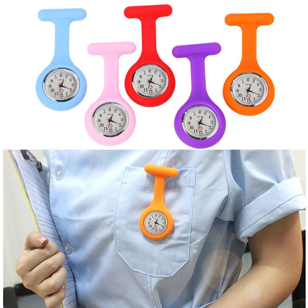 Multi pielęgniarki zegarki lekarz zegarek fob broszki silikonowe baterie tunika pielęgniarka medyczna kobiety zegarki kwarcowe z klipsem relogio/N