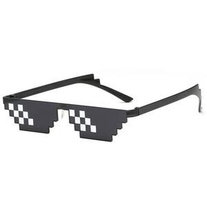 Image 2 - TTLIFE مضحك نظارات الرجال البلطجة الحياة النظارات الشمسية فسيفساء المذكر 8 بت نمط بكسل إكسسوار سخيفة الأسود مضلع Oculos