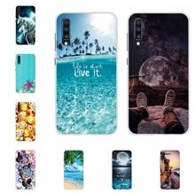 For Samsung Galaxy A70 Case Soft TPU Silicone SM-A705F Cover Beach Pattern Bumper