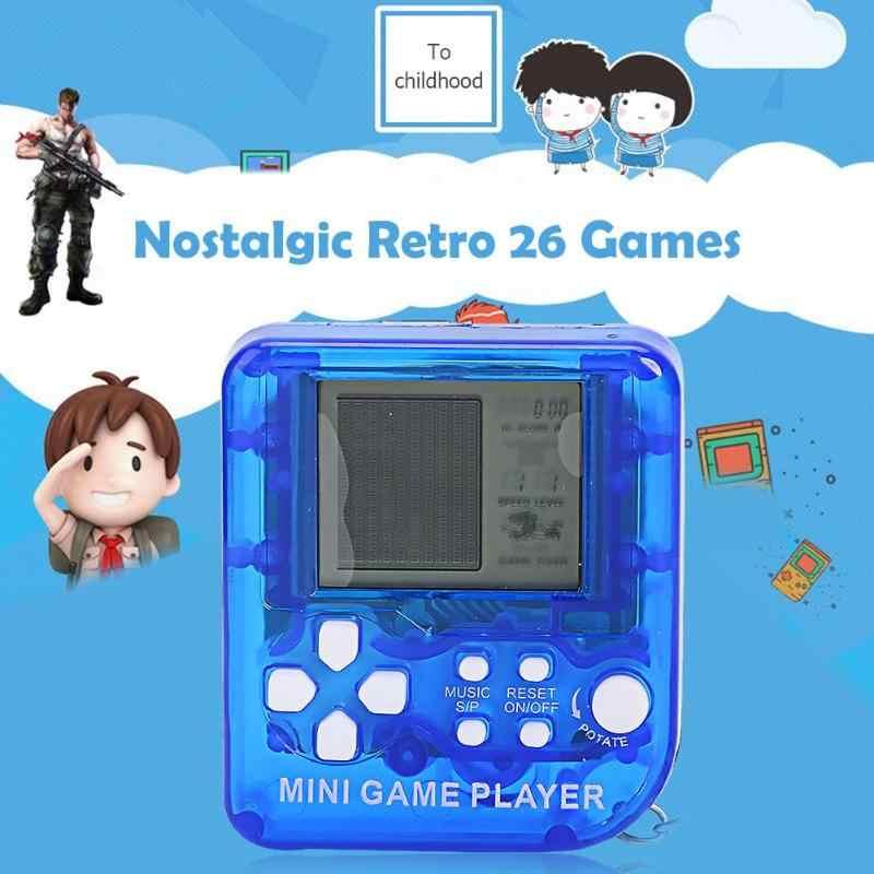 ノスタルジックなレトロ 26 ゲームコンソールキーホルダーミニテトリスゲームプレーヤーギフト用サポートドロップシッピング