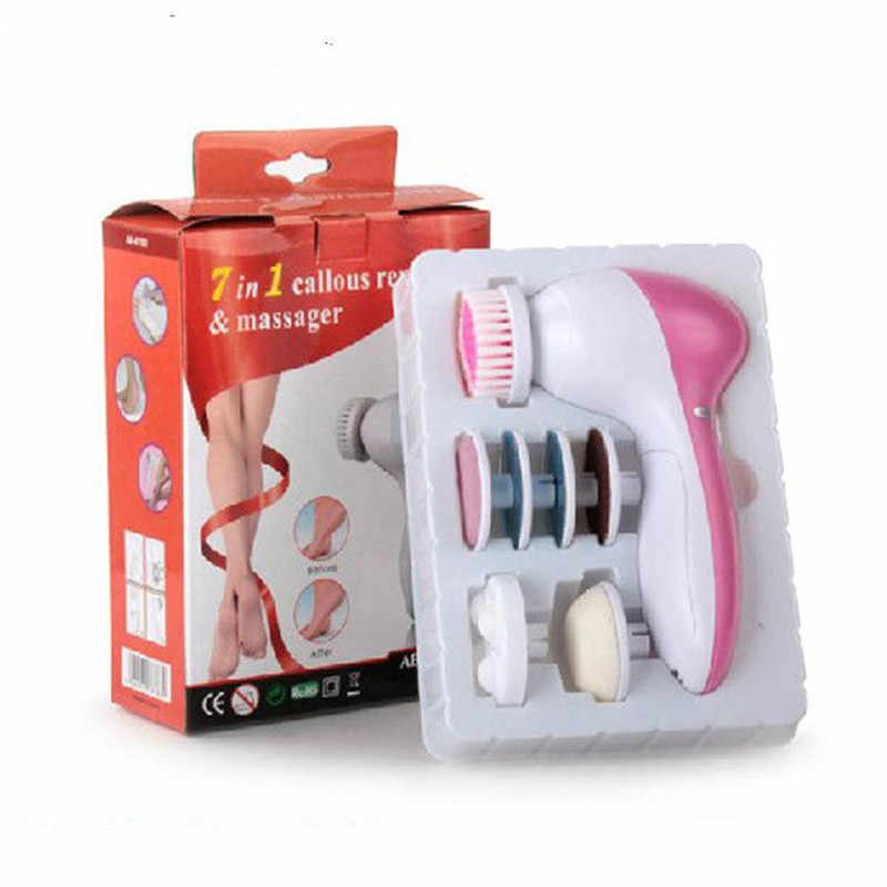 Electric Foot Cleaning Brush Care Grinding Dead Skin Removal Feet Calluse Remover Pedicure Grinding Heel File Roller Massager