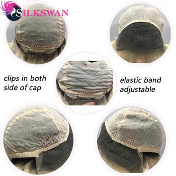 Silkswan ショートピクシーカットかつら人間のレミーの髪 150 密度 #1B/613 天然黒人女性のレースフロントウィッグ