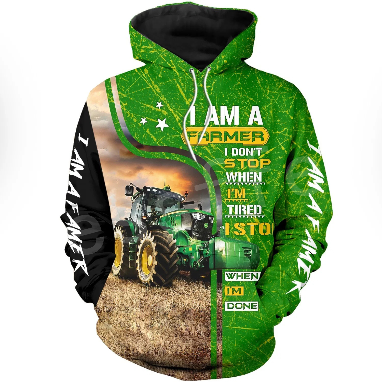 Tessffel Worker Farmer Tractor instrument Funny NewFashion Long Sleeves 3DPrint Zipper/Hoodies/Sweatshirts/Jacket/Men/women A-18