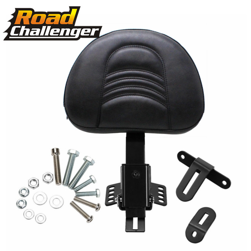 Motorcycle Adjustable New Plug In Driver Rider Seat Backrest Kit For Harley Touring Electra Road Street Glide Road King 97-17 16