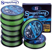 Sougayilang плетеная полиэтиленовая рыболовная леска 100 м с