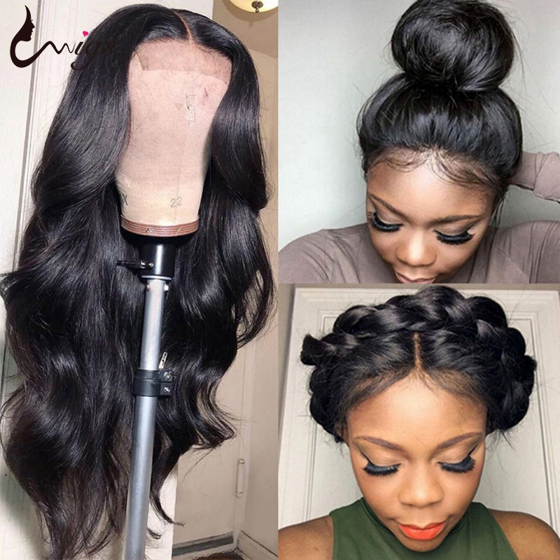 Uwigs Peruvian Body Wave Wig 13x4 Lace Front Human Hair Wigs Pre Plucked With Baby Hair Remy Hair Wigs For Black Women 8-26 Inch