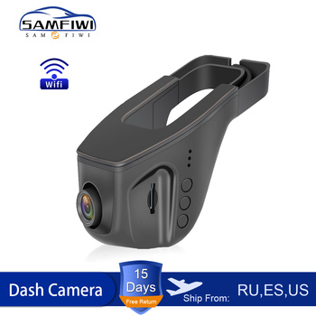 цена на WIFI Car DVR Dash Cam Full HD 1080P Dual lens Night Vision Driving Recorder Video Recording Dash Camera Auto Recorder teyes
