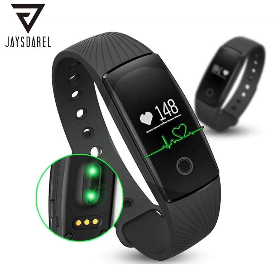 ID107 HR Heart Rate Smart Watch Sleep Monitor Sport Step Pedometer Smart Bluetooth Bracelet For Android IOS Phone