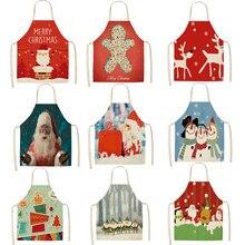 Delantal navideño de Papá Noel para Bar, restaurante, camarero, decoración navideña, 66x47cm, 47x38cm