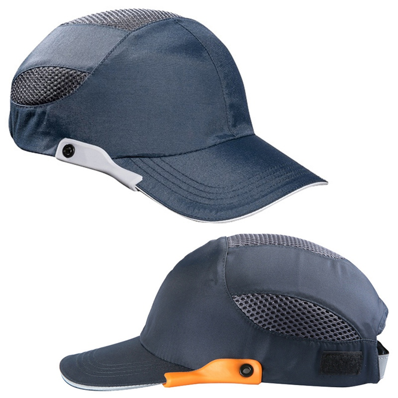 Men Safety Bump Cap With Reflective Stripes Lightweight And Breathable Hard Hat Head Protection Cap