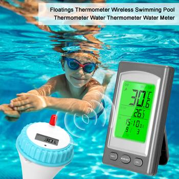 Pływający termometr bezprzewodowy basen termometr jacuzzi Home Swim Spa termometr wodny Alarm w kalendarzu-40 ~ 60C tanie i dobre opinie KKMOON termometr higrometr NONE CN (pochodzenie) Thermometer 50 ° C-69 ° C DIGITAL OUTDOOR Other Stacja dokująca 1 9 Cali i Pod